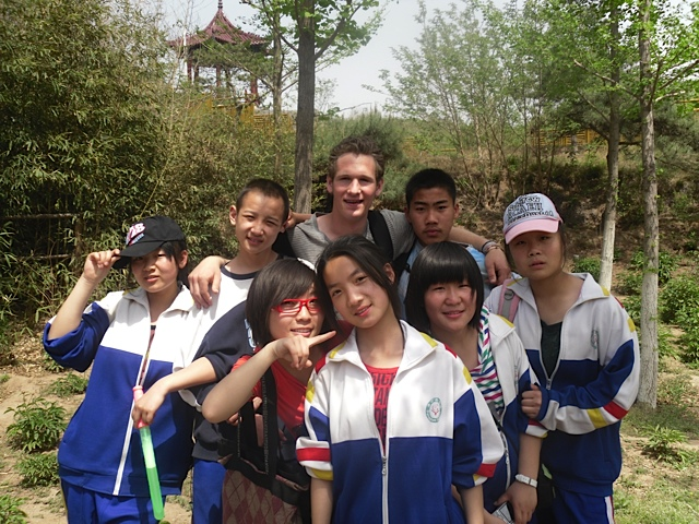 Jimmy with Chinese Students